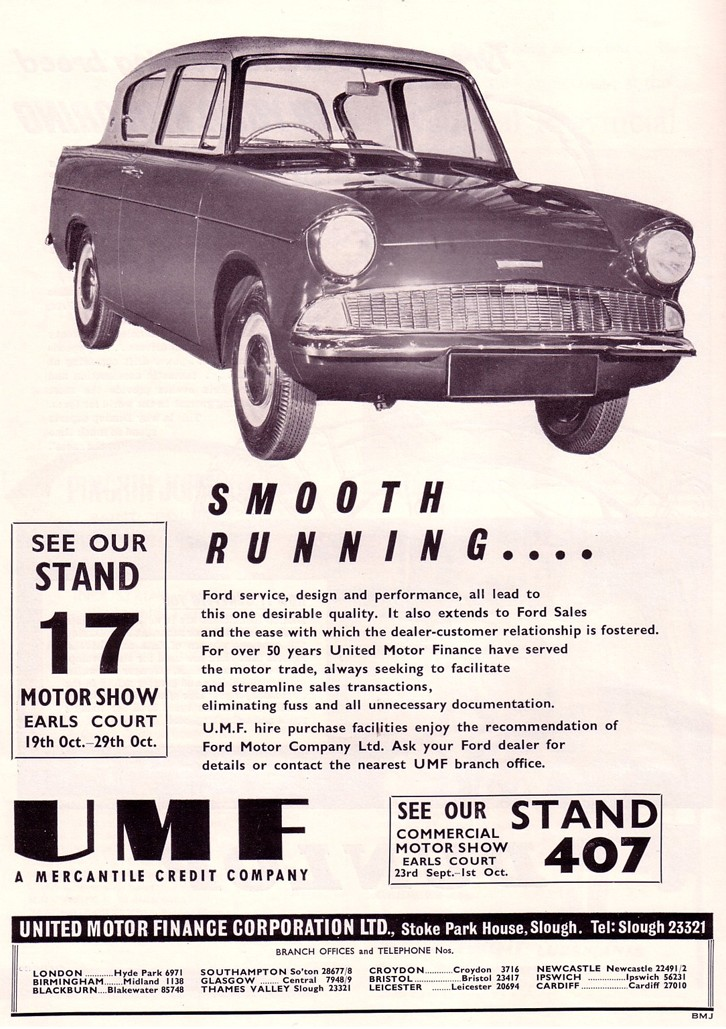 Ford Anglia 105e Saloon Advert No 65