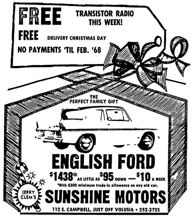 Ford Anglia 105e Saloon Advert No 104
