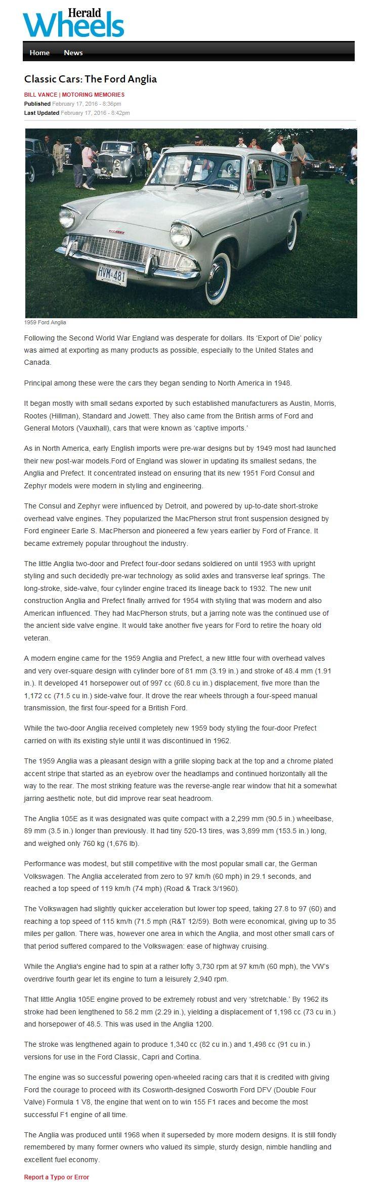 Ford Anglia 105e Saloon Article No 68