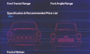 Anglia Van Price List