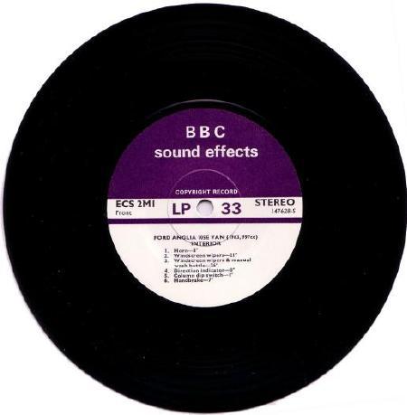 Ford Anglia 105E Miscellaneous - Music - BBC Sound Effects